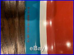 Vintage NOS DOUBLE COLA Soda Metal Convex Oval Sign RARE 36x 24 Mint Coke