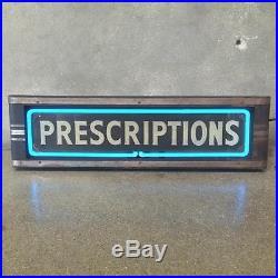 Vintage Neon Prescriptions Light Circa 1940's (SXFKHJ)