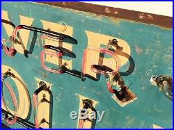 Vintage Neon Sign, Silver Dollar Saloon, 1930s, Original ALVARADO, CALIF