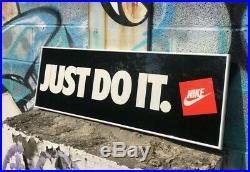 Vintage Nike Just Do It Sign 90s Nike Advertising Framed Sign