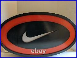 Vintage Nike Swoosh Logo Light Up Sign Store Display 1990s 90s Tested Working