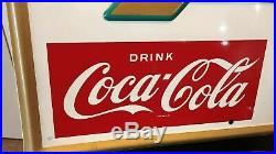 Vintage Nos Original Coca Cola / Coke Refreshment Area Arrow Sign 24 X 17 Museum
