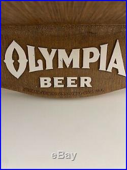 Vintage Olympia Beer Bighorn Sheep Ram Wildlife Bar Wall Mount Sign Advertising