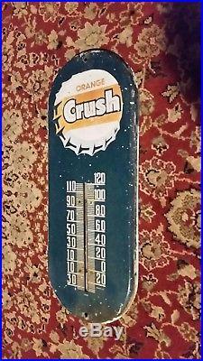 Vintage Orange Crush Advertising Thermometer soda pop Sign 1950s