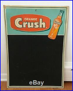 Vintage Orange Crush Drink Embossed Tin Chalkboard Menu Advertising Sign Nice