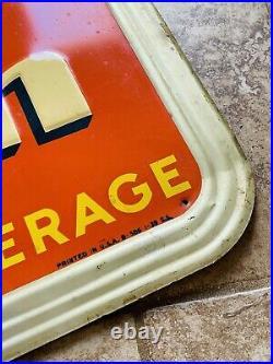 Vintage Orange Crush Sign art deco rare advertising