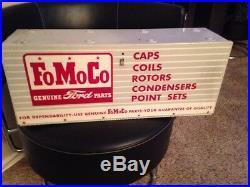 Vintage Orig. FoMoCo Ford Motor Company (metal) parts box, Sign