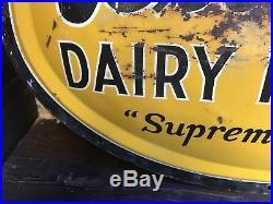 Vintage Original 1959 Biltmore Dairy Products Metal Convex Sign 36x24 Rare