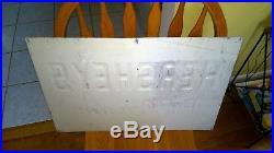 Vintage Original 1960s HERSHEY'S ICE CREAM Embossed Tin Advertising Sign