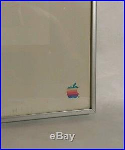 Vintage Original Apple Macintosh Picasso Framed Poster