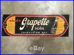 Vintage Original Grapette Soda Sign