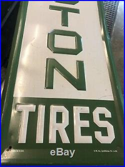 Vintage Original Metal Remington Tire Sign Man Cave Garage Gas Oil