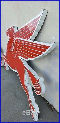 Vintage Original Mobil Pegasus Cookie Cutter Pair Porcelain Sign