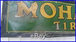 Vintage, Original Mohawk Tires Metal Dealer Sign