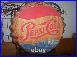 Vintage Original Pepsi Metal Bottle Cap Stout Sign Co St Louis Mo USA Old Soda