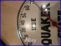 Vintage Original QUAKER STATE MOTOR OIL Advertising Thermometer Sign Made in USA