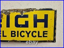Vintage Original Raleigh Enamel Advertising Sign