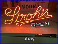 Vintage Original STROHS Beer Brewery Bar Pub Neon Advertising Sign Franceformer