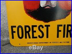 Vintage Original U. S. Forest Service SMOKEY BEAR Fire Prevention Sign. PA. Issue