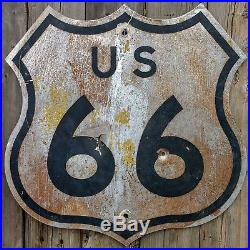 Vintage Original US 66 Route 66 Highway Road Sign Guaranteed Authentic 24 x 24