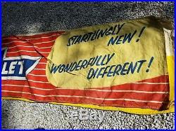 Vintage Original canvas 1953 Chevrolet Chevy Dealer Showroom Sales Banner Sign