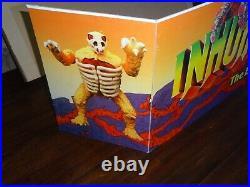 Vintage Origional 1986 Hasbro Inhumanoids Advertising 4ft Shelf Display sign