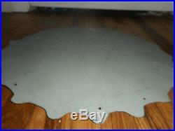 Vintage PEPSI BOTTLE CAP SODA COLA DOUBLE Dot Tin Original Advertising SIGN