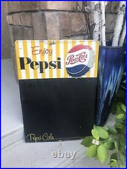 Vintage Pepsi Advertising Sign Chalkboard