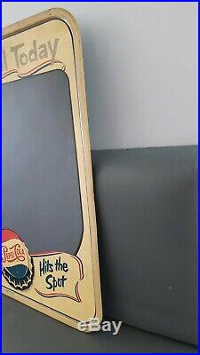 Vintage Pepsi Chalkboard Hits The Spot Special Today Stout Sign M-194 USA