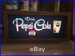 Vintage Pepsi Cola Light Up Sign