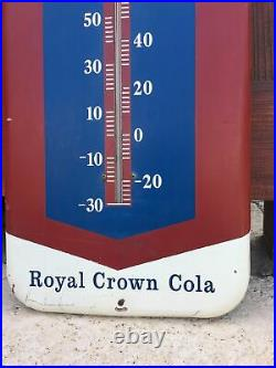 Vintage Pepsi Cola Thermometer Tin Sign