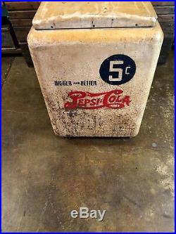 Vintage Pepsi Heintz Ice Chest Cooler Coca Cola 7up Dr Pepper Orange Crush Sign