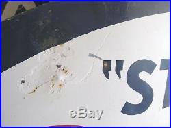Vintage Porcelain Esso Standard Station/dealer Single Sided Sign 7'7 X 5'1 Big