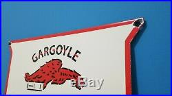 Vintage Porcelain Mobil Gasoline Auto Service Station Pegasus Advertisement Sign
