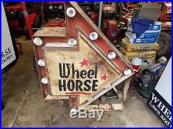 Vintage RARE Wheel Horse Arrow Sign