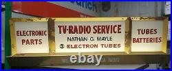 Vintage RCA Radio TV Tube Dealer Service Repair Lighted Advertising Sign