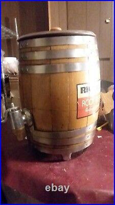 Vintage RICHARDSON ROOT BEER Wood Barrel withMultiplex Faucet St. Louis Dispenser