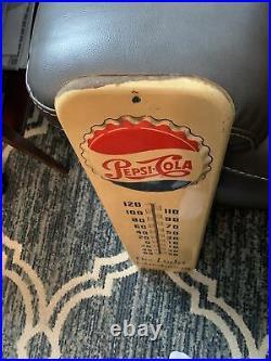 Vintage Rare 1950s Pepsi-Cola Thermometer
