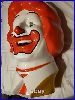 Vintage Rare 1977 Ronald McDonald Helium Balloon Inflator Cover McDonald's head