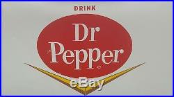 Vintage Rare Dr. Pepper Cronstrom Picnic Cooler Cronco Dr Chevron Sign Very Nice