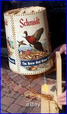 Vintage Rare Schmidt Beer Motion Light Up Lamp Sign Kes Kouba Fish Hunt Western