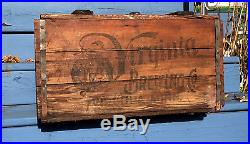 Vintage Rare Virginia Minn Beer Brewery Wood Box Crate Bottle Sign MN Duluth Ely