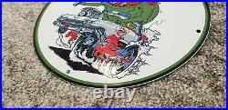 Vintage Rat Fink Porcelain Ghostbusters Ed Roth Slimer Service Mopar Sign