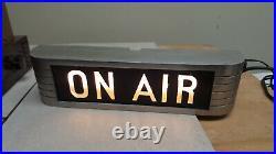 Vintage Rca Studio Warning Sign Light Radio Station Horizontal On Air Rare