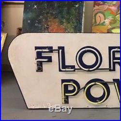 Vintage Reddy Kilowatt Florida Power Neon Porcelain Sign Single Sided 90x32
