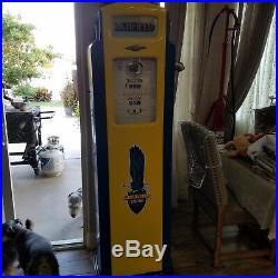 Vintage Richfield Gas Pump Yellow Refurbished