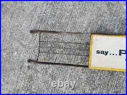 Vintage Say Pepsi Please Screen Door Push Pull Sign General Country Store Bread