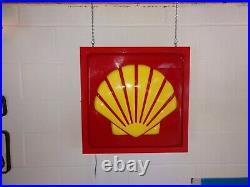 Vintage Shell Gasoline Plastic Lighted Sign