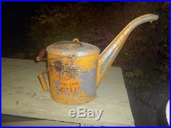 Vintage Shell Shellzone Gas Oil Advertising Radiator Flush Can Pail Sign Metal