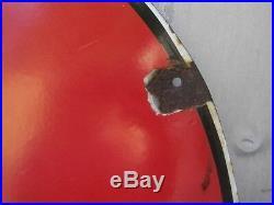 Vintage Sherwin Williams Paint Globe Large Porcelain Metal Sign Gas Oil Farm